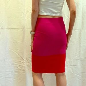 BCBG pencil skirt red/pink